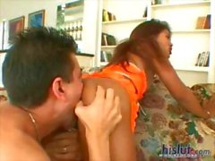 Lyla Lei is happy and horny taking on this young stud's cock