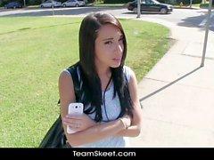 Petite teen hottie Mia Hurley