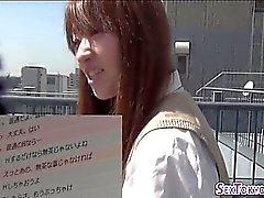 Japanese schoolgirl fucks