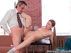 Sexy blonde slut gets fucked hard