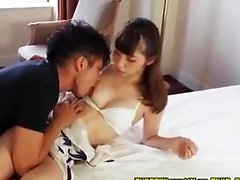 Asian teen slut in POV blowjob