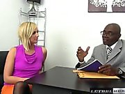 Teen Kate England rides her first BBC and cums
