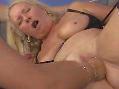Oma Perverse fuck and cum 1