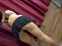 Skinny German Ebony Whore Seduce to Fuck for Money