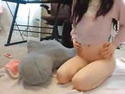 Stunning College Babe Plays With Herself