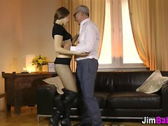 Stockings euro fuck old