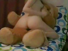 Cute Teen fucks her teddy bear