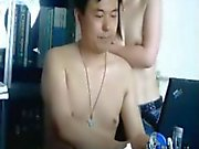 Chinese boss likes secretary fucks for others to see