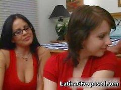 Busty latina teaches teenie how to fuck part5