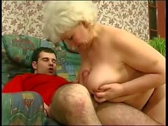 Russian granny wants sex from young guy