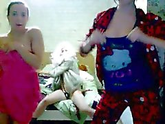 Very Hot Russian Teens Teasing Dance For Webcam