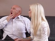 DADDY4K. Old businessman couldnt say no to sons gorgeous girlfrien