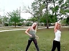 College blondes licking each others pussies