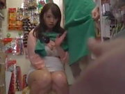 Busty cute Japanese slag loves public sex in any location...