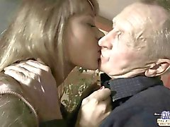 The hot fuck puzzle for a horny girl and lucky old man