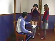 French gym teacher trains two young students