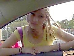 Pretty teen London Smith railed while hitchhiking