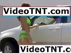 teenage virgin dancing around her hotel room in tight white thong underwear