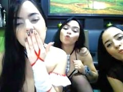 Michelle Romanis and Clarina Ospina And Valeria Lopera cam s