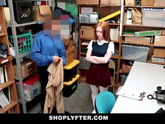 ShopLyfter - Redhead Teen Got Caught Stealing