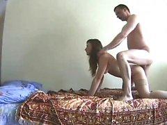 Teen rides cock on hidden cam