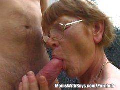 Horny Brunette Granny Fucked In The Wilderness