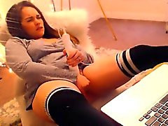 Busty Hot Teen Masturbating On Webcam