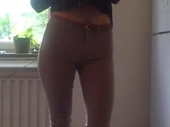 Teen In Tight Jeans Undressing Herself
