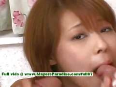 Sakurako hot girl teen Chinese doll enjoys sucking dick