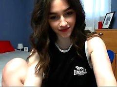 amazing teen body masturbation sexy brunette