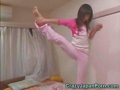 Pervert Cums On Japanese Teen!
