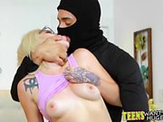 Adorable blonde teen loves jumping on thick juicy schlong