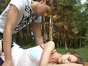 Lustful chap films stretched holes of his girlfriend