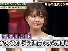 14 japanese girls foot massage torture game show