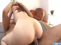 Kaori Maeda endures long cock inside her fresh twat