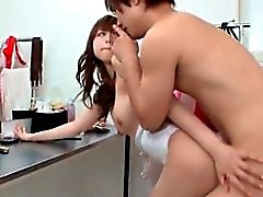nasty asian babe kisses a horny guy sat part6