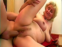 Monica: Big young cock and one dildo for the sexy old lady