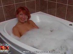 Amazing redhead fucked on the toilet