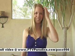 Courtney from ftv babes stunning petite blonde talking teenage and trying clothes