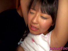 Petite asian beauty fucked during group fun