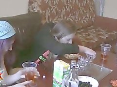 Naughty college students drunk and fucking