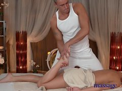 Massage Rooms Sexy girl gets fucked hard