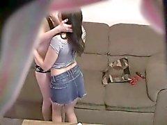 Hidden cam caught lesbian couple