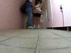 Young Teen on Schooltoilet