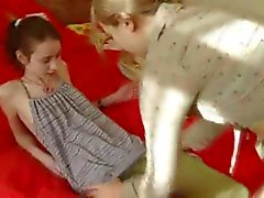 Teen Ivana strip her girlfirends ass
