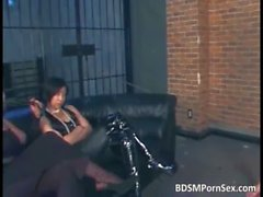 Sexy asian teenage chick gets tied