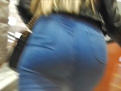 nice ass in tight jeans voyeur