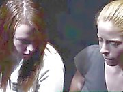 Group of voyeurs watch Mormon lesbians stripping