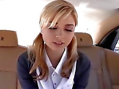 Back seat banging for hot schoolgirl Molly Bennett