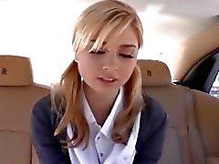 Back seat banging for hot schoolgirl Molly Bennett